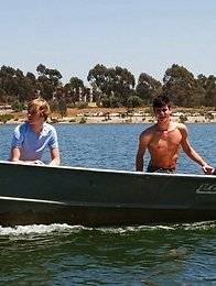 Hot models Scotty Clarke and Christian Collins go on a nice peaceful camping trip