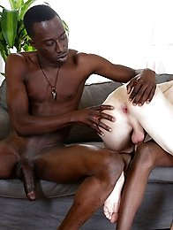 Kurt Maddox enjoys a black double penetration courtesy of two monstrous uncut cocks