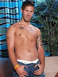 Inked stud Jake Austin is only too happy to give us another look at that tattooed bod, those big nipples, that long cock and perfect ass in this solo